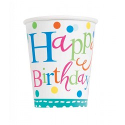 8 confetti cake birthday cups