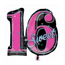 Sweet 16 sparkle folie ballon