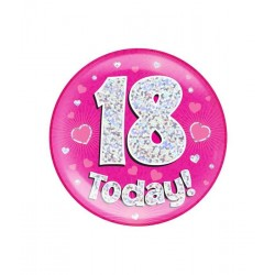 Button 18 today holografisch