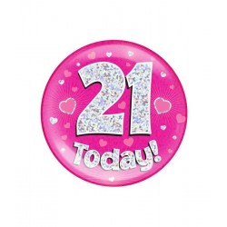 Button 21 today holografisch