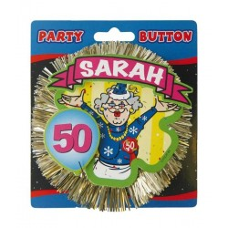 50 Jaar Sarah 3D Button