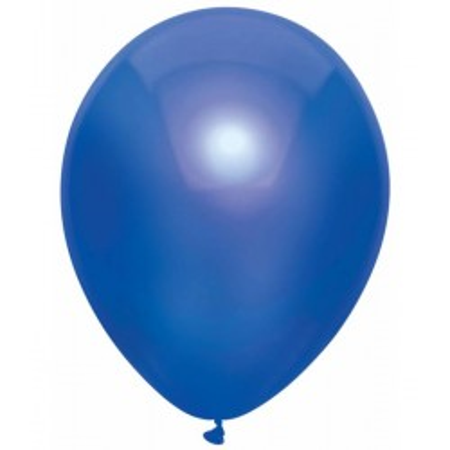 Metallic blauwe ballonnen 100x