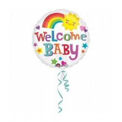 welcome baby helium ballon