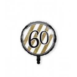 Folieballon 60 black & gold