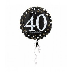Folie ballon 40 jaar happy...