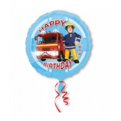 Folieballon brandweer sam happy birthday