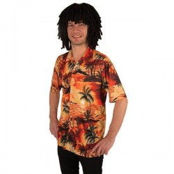 Tropische Hawaii shirt orange
