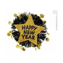 "Broche ""happy new year"" goud"