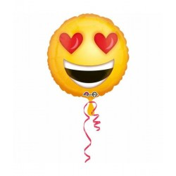 Folieballon love emoticon