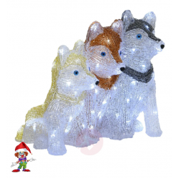 LED-decoratie figuur Husky...