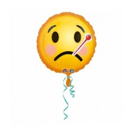 Helium ballon beterschap emoticon