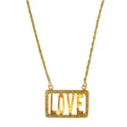 Hals collier goud love