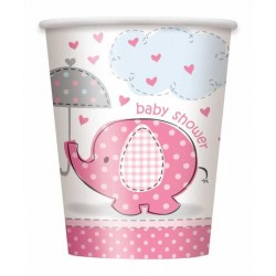 Baby Shower bekers roze - 8...