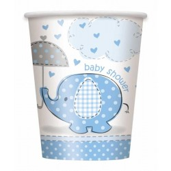 Baby Shower bekers blauw -...