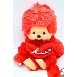 "Monchhichi "" LOVE LOVE"" RED"