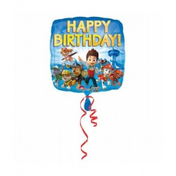 Paw patrol happy birthday folie ballon