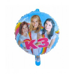 K3 party folieballon