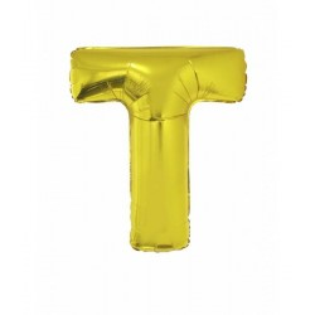 Folie ballon goud letter T