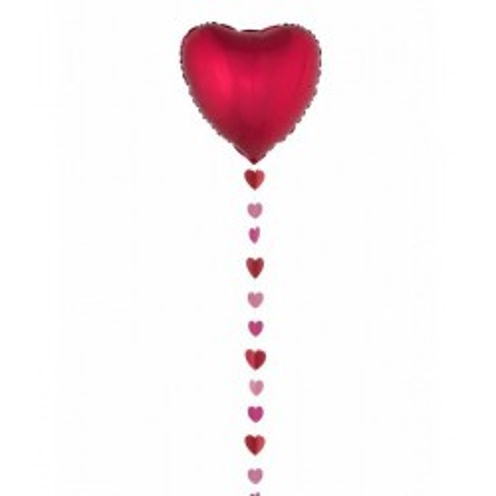 Ballonnen met hartjes rood